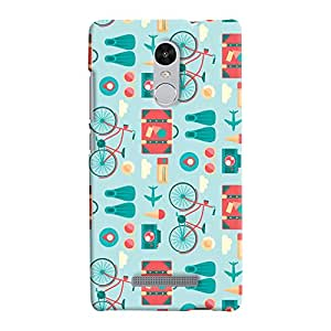 ColourCrust Xiaomi Redmi Note 3 Mobile Phone Back Cover With Holidays Pattern Style - Durable Matte Finish Hard Plastic Slim Case