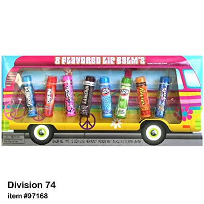 Hershey's Favorites 8 pc. Flavored Lip Balm Peace & Love Bus Set - (Hershey's, Bubble Yum, Reese's, Jolly Rancher, Twizzlers, & Ice Breakers)