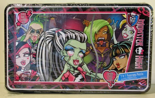 MONSTER HIGH 3 in 1 PANORAMA PUZZLE