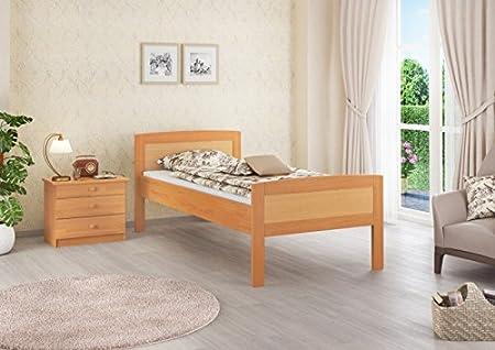 Seniorenbett Buche extra hoch Einzelbett 90x200 Massivholz-Bettgestell ohne Zubehör 60.72-09 oR