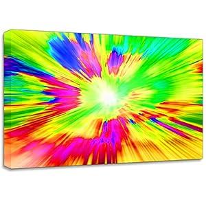 Colour Splash Bright Canvas Art Print Poster