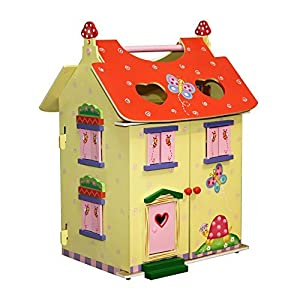 Fantasy Fields by Teamson Magic Garden Childrens Wooden Dolls House with Furniture Sylvanin W-11132A by Fantasy Fields By Teamson