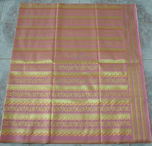 Thai Myanmar Synthetic silk fabric women Wedding Dress Sarong SKIRT # Mandalay