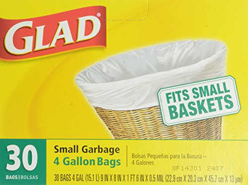 Small Garbage Bags : Glad small garbage bags gallon count home garden