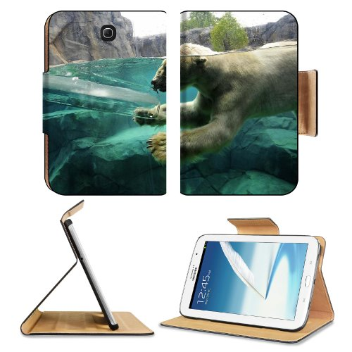 Polar Bear Underwater Swim Baby Samsung Galaxy Note 8 Gt-N5100 Gt-N5110 Gt-N5120 Flip Case Stand Magnetic Cover Open Ports Customized Made To Order Support Ready Premium Deluxe Pu Leather 8 7/16 Inch (215Mm) X 5 11/16 Inch (145Mm) X 11/16 Inch (17Mm) Liil front-166818