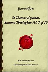 a brief review of thomas aquinas the summa theologica Summa theologica, 5 vols has 2,949 i finally finished st thomas aquinas' summa theologica however, i want to focus, in this review, on this edition of the summa, published by the great folks at the aquinas institute my short review is this.