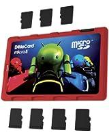 DiMeCard micro8 Porte Cartes Mémoire microSD ANDROID CYCLE DE LUMIERE EDITION (Ultrafin, format carte de crédit, étiquette inscriptible)
