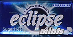 GG8 Wrigley\'s Eclipse Mints Peppermints Artifically Flavored Sugar Free - 8 Counts of 1.2 Oz