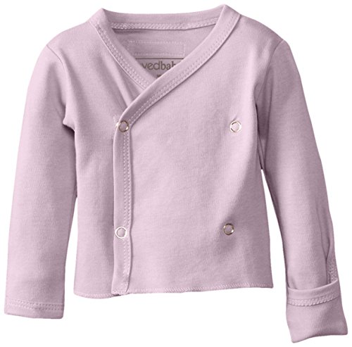 L'Ovedbaby Unisex-Baby Newborn Organic Wrap Shirt, Lavender, Newborn front-766539