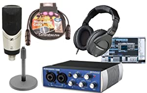 presonus audiobox usb daw recording bundle with sennheiser mk4 large diaphragm. Black Bedroom Furniture Sets. Home Design Ideas