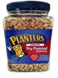 Planters Unsalted Dry Roasted Peanuts, 35 Ounce