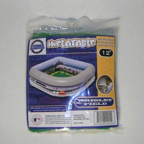 "Chicago Cubs Wrigley Field 12"" Inflatable Stadium - Makes a Great Serving Bowl for Drinks or Chips At Your Next Party or Picnic."