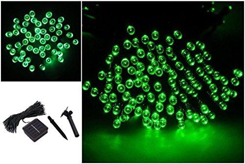 1 Pc Awe-inspiring Modern 100x LED Solar Nightlight Christmas Props Romantic Garden Lawn Color Green