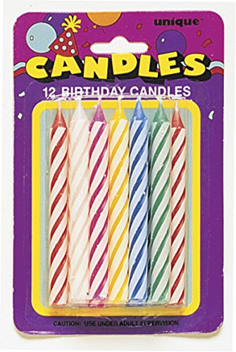 Unique Industries 12 Count Multi Spiral Candles, NA - 1