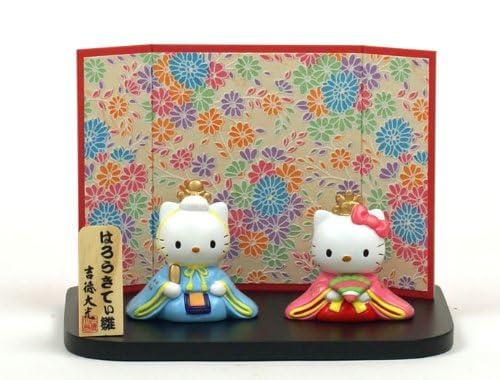 雛人形 ひな人形 親王飾り コンパクト サンリオ ハローキティー 雛人形 ひな人形