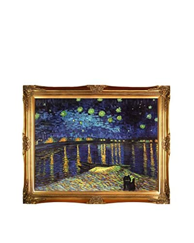 Vincent Van Gogh's Starry Night Over The Rhone Framed Hand Painted Oil On Canvas