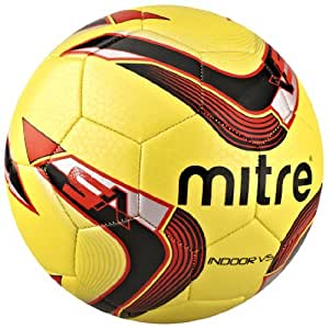 Mitre Indoor V5 32P Ball - Yellow/Black/Red - 4