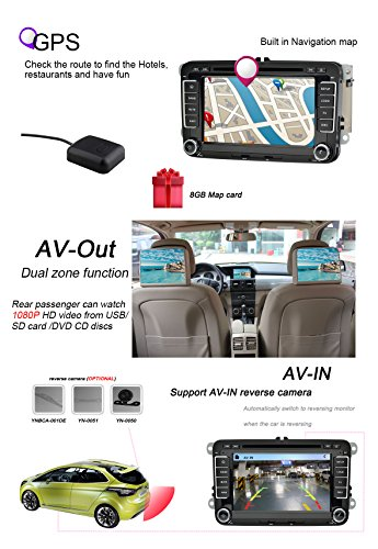 YINUO-7-Zoll-2-Din-Touchscreen-In-Dash-Autoradio-Moniceiver-DVD-Player-GPS-Navigation-7-Farbe-Tastenbeleuchtung-fr-JettaJetta-SportWagenJetta-GLIJetta-Turbo-HybridGolf-GTIGolf-RGolf-EstateGolf-WagonGo