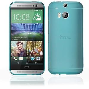 Bestwe Blau TPU Schutzhülle Hülle für HTC One M8 TPU Case