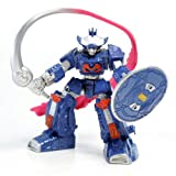 Super Robot Advanced World Mini Figure - Blue Robot with Flame-Sword and Shield