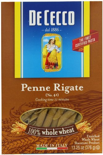 De Cecco Whole Wheat Penne Rigate No. 41 16 Oz. Box (De Cecco Egg Pasta compare prices)