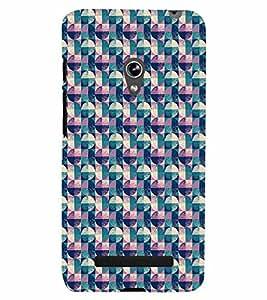 PrintVisa Corporate Print & Pattern Vintage 3D Hard Polycarbonate Designer Back Case Cover for Asus Zenfone 5