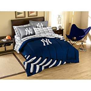 MLB New York Yankees Full Bed in a Bag with Applique Comforter by Northwest