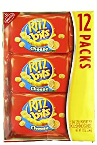 Ritz Bits Cheese Sandwich (1-Ounce Packages), 12-Count Trays (Pack of 2)