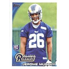 2010 Topps NFL Football Card # 326 Jerome Murphy RC - St. Louis Rams ( Rookie Card)...