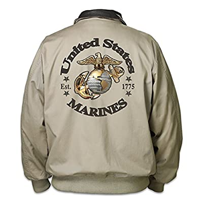 Marines Forever Men's Twill Jacket by The Bradford Exchange