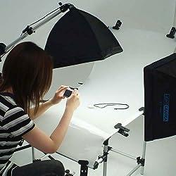 lightgrafica撮影機材 コンパクトテーブル付40×40cm蛍光灯照明2灯セット・
