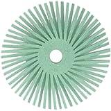 """Scotch-Brite Radial Bristle Disc Thin Bristle, Ceramic, 30000 rpm, 2"""" Diameter, 1 Micron Grit, Light Green (Pack of 40)"""