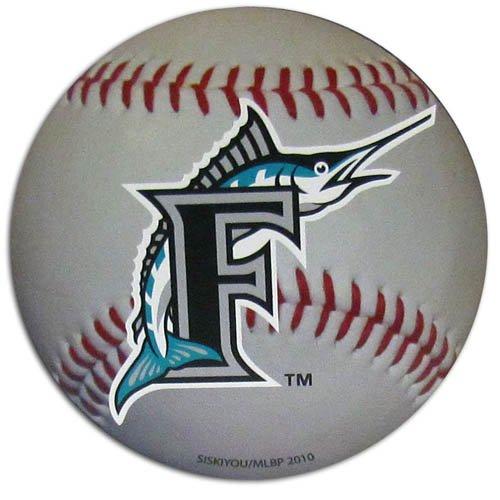 Miami Marlins Baseball Shaped Magnet Large MLB Team for Refrigerator Locker mlb mens locker label contour flip flop pick team