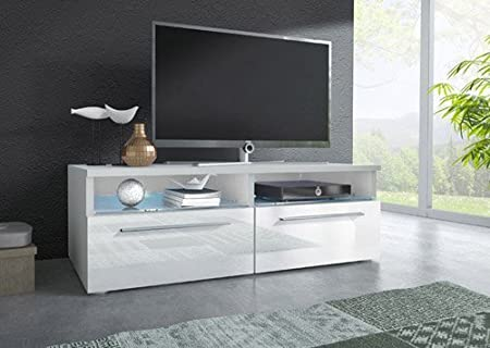Mueble TV modelo Laura en color blanco sin led (1m), (varios colores disponibles)
