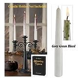 Bleeding Tapers Candles Halloween Decor, Gory Green Bleed, 2-piece