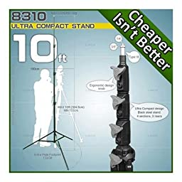 Linco 10 Foot Senior Compact Steel Light Stand, Black