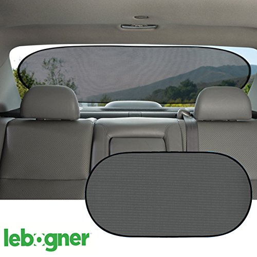 Car Cling Rear Window Sunshade By Lebogner - Premium Quality Large Baby Auto Sun Shield, Sun Protector, Blocking over 98% of Harmful UV Rays, Protects Children And Pets From The Sun's Glare (Windows Shield compare prices)