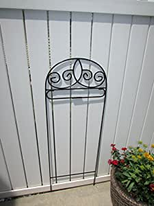 Amazon.com Scroll Small Garden Flag Holder Black Arbor Metal Iron Flag Stand Patio Lawn U0026 Garden