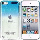 Snap-On Housse etui coque Pour APPLE iPod Touch 5 G,Bleu ciel motif goutte d'eau