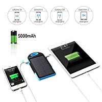 Solar Charger 5000mAh Solar Power Bank D...