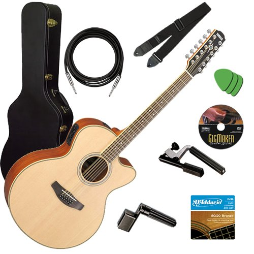 Yamaha CPX700II-12 12-String STAGE BUNDLE w/ Hard Case, Capo
