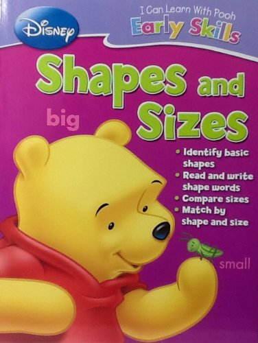 Disney I Can Learn with Pooh Early Basic Skills PreK Workbook ~ Shapes and Sizes