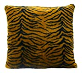 Brunton International Tiger Pillow 20 by 20-Inch Black/Gold