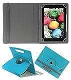 Acm Rotating 360° Leather Flip Case For Sansui St71 Tablet Stand Cover Holder Greenish Blue