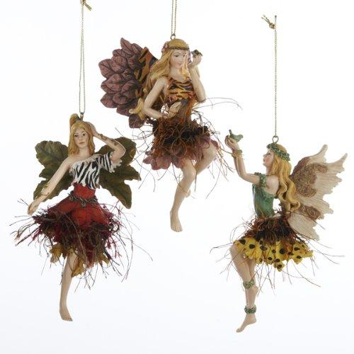 Fairy Christmas Ornaments.Club Pack Of 12 Exotic Animal Print Jungle Fairy Christmas