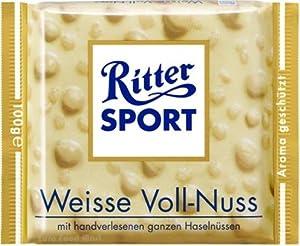 Ritter Sport White Whole Hazelnuts Chocolate 100 g