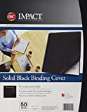 GBC Solids Standard Presentation Covers, Non-Window, Square Corners, Black, 50 Pieces Per Box (2514493)