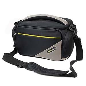 Evecase Black Large DSLR Camera Pouch Case with Strap for Canon EOS SL1 T5i T5 T4i T3 T3i T2i T1i XSi 60D 70D 7D Mark II or Camcorders