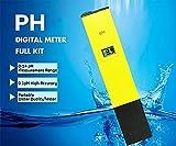 DIKETE® Digital LCD pH Messgerät pH Wert Wasser Messgerät Messer Tester Meter Prüfer mit 0.1, 0-14 für Schwimmbad, Pool, Landwirtschaft, Hobby, Profi-Gärtner, Orchideenzüchter , Aquarium ,Water Wasser Labor
