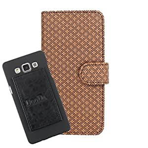 DooDa PU Leather Wallet Flip Case Cover With Card & ID Slots For Intex Aqua Style - Back Cover Not Included Peel And Paste